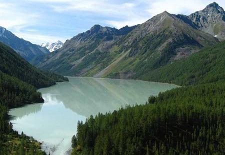Кучерлинское озеро с гор фото