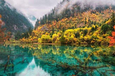 озеро пяти цветов китай